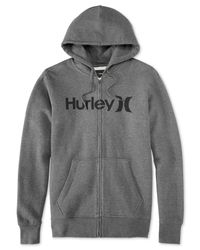 Hurley | Gray One & Only Zip Fleece Hoodie for Men | Lyst