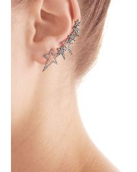 Diane Kordas - Pink 18kt Rose Gold Ear Cuff With White Diamonds - Lyst