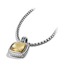 David Yurman | Metallic Albion Pendant With Diamonds, 11mm Gemstone | Lyst