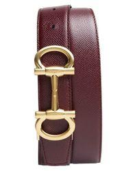 Ferragamo - Purple 'parigi' Reversible Leather Belt for Men - Lyst