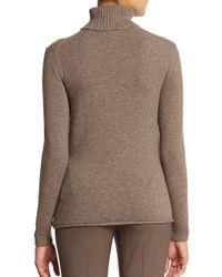 Lafayette 148 New York - Brown Cashmere Turtleneck Sweater - Lyst