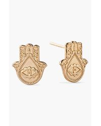 ALEX AND ANI | Metallic 'symbolic - Hand Of Fatima' Stud Earrings | Lyst