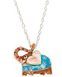 !item   Blue Elephant Pendant Necklace   Lyst
