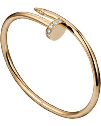 Cartier | Metallic Juste Un Clou 18ct Pink-gold And Diamond Bracelet | Lyst
