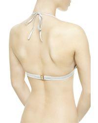 La Perla | Gray Triangle Bikini Top | Lyst