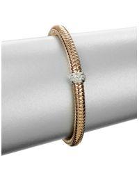 Roberto Coin | Pink Primavera Diamond And 18k Rose Gold Woven Bracelet | Lyst
