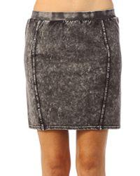 Ichi | Gray Mini Skirt | Lyst
