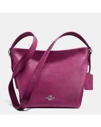 COACH - Purple Mini Dufflette In Pebble Leather - Lyst