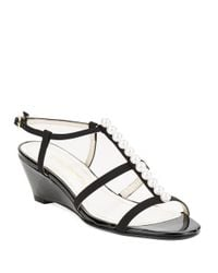 Caparros | Black Sullivan Wedge Sandals | Lyst