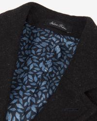 Ted Baker | Gray Wool Ombré Overcoat for Men | Lyst