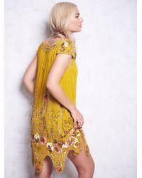 Free People | Metallic Magic Garden Party Dress | Lyst