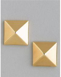 Vince Camuto | Metallic Pyramid Stud Earrings | Lyst