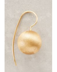 Anthropologie | Metallic Golden Orb Drops | Lyst