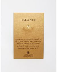 Dogeared - Metallic Gold Plated Balance Small Triangle Ring - Lyst