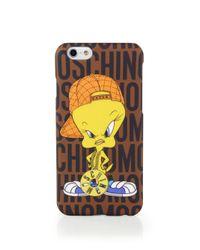 "Moschino - Brown Looney Tunes ""tweety"" Iphone 6 Case - Lyst"