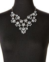 Cara - Metallic Gunmetal Statement Necklace - Lyst