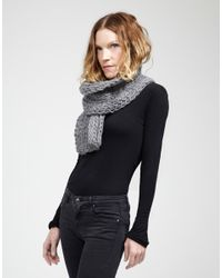 Wool And The Gang | Gray Whistler Scarf | Lyst