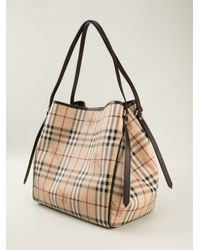 Burberry - Brown Haymarket Check Shoulder Bag - Lyst