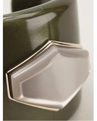 Emporio Armani | Green Stone Detail Cuff | Lyst