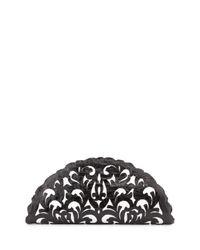 Nancy Gonzalez | Black Crocodile Fan Clutch Bag | Lyst