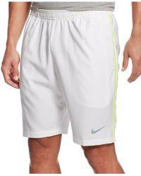 "Nike | White Men's Dri-fit 9"" Court Tennis Shorts for Men | Lyst"