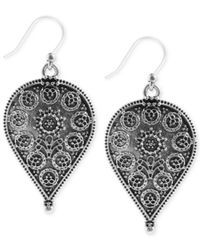 Lucky Brand | Metallic Etched Teardrop Earrings | Lyst