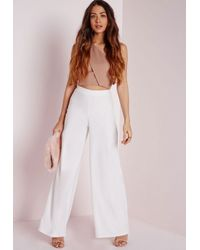 Missguided - Pink One Shoulder Bralet Nude - Lyst