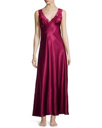Jonquil - Red Taylor Lace-front Satin Long Gown - Lyst