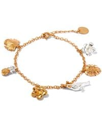 Alex Monroe | Metallic Fox, Rabbit And Mouse Chase Bracelet | Lyst