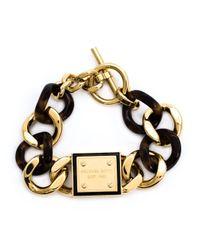 MICHAEL Michael Kors | Metallic Tortoise Rolo Chain Bracelet | Lyst