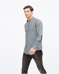 Zara | Green Gingham Check Shirt for Men | Lyst