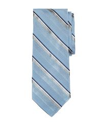 Brooks Brothers - Blue Satin Split Stripe Tie for Men - Lyst