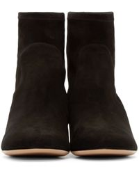 Charlotte Olympia - Black And Gold Suede Winnie Ankle Boots - Lyst