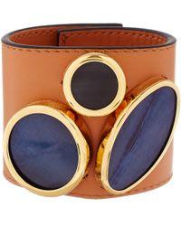 Marni | Brown Tan Leather Cuff Bracelet | Lyst