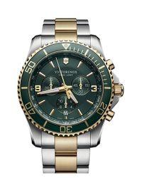Victorinox - Metallic 'maverick' Chronograph Bracelet Watch for Men - Lyst