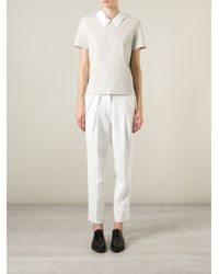 Hache | Natural Contrasted Collar Top | Lyst
