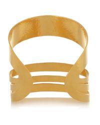 Herve Van Der Straeten - Metallic Hammered Goldplated Cuff - Lyst