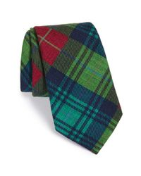 Ike Behar | Blue 'exploded Plaid' Wool Tie for Men | Lyst