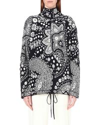 Chloé - Gray Cropped Chain-trimmed Tweed Jacket - Lyst