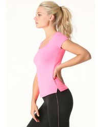 Bebe | Pink Back Cutout Layering Tee | Lyst
