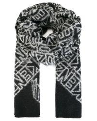 KENZO - Black Knit Scarf - Lyst
