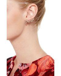 Joelle Jewellery | 18K Pink Gold Lace Single Earring | Lyst