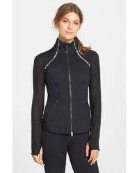 Zella | Black 'Luxe' Mesh Jacket | Lyst