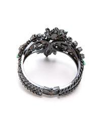 Elizabeth Cole | Purple Navette Hinge Cuff Bracelet Mintlavenderclear | Lyst