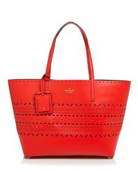 kate spade new york | Red Tote - Lillian Court Medium Harmony | Lyst