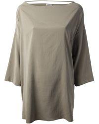 Brunello Cucinelli - Green Oversized Blouse - Lyst
