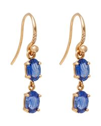 Irene Neuwirth | Pink Diamond, Ceylon Sapphire & Rose Gold Double Drop Earrin | Lyst