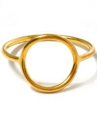Maria Black - Metallic Gold-plated Monocle Ring - Lyst