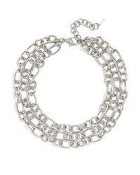 BaubleBar - Metallic Houston Chain Necklace - Lyst