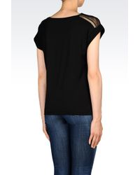 Armani Jeans | Black T-shirt In Cotton Jersey | Lyst